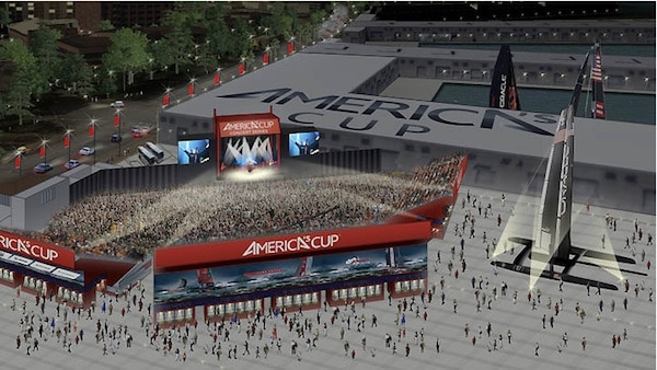 America's Cup Temporary Waterfront San Francisco Music Venue