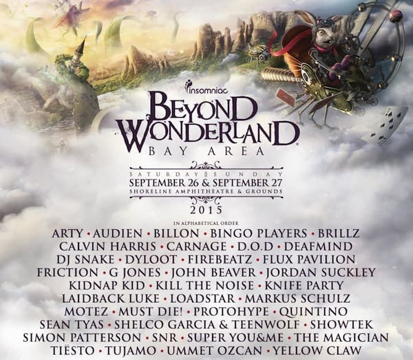 Beyond Wonderland Bay Area 2015 Lineup Announcement