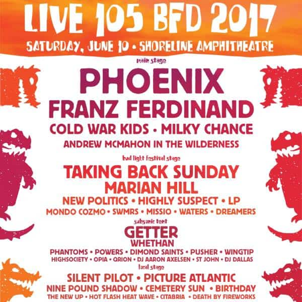 BFD Set Times Lineup 2017