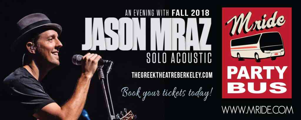 Jason Mraz Greek Theater Concert Shuttle