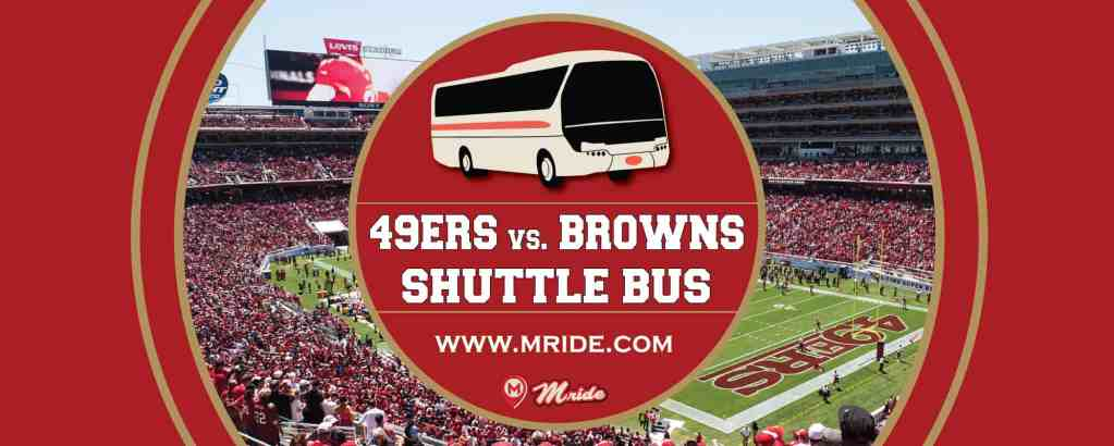 Levi's Stadium Shuttle Bus: 49ers vs. Browns