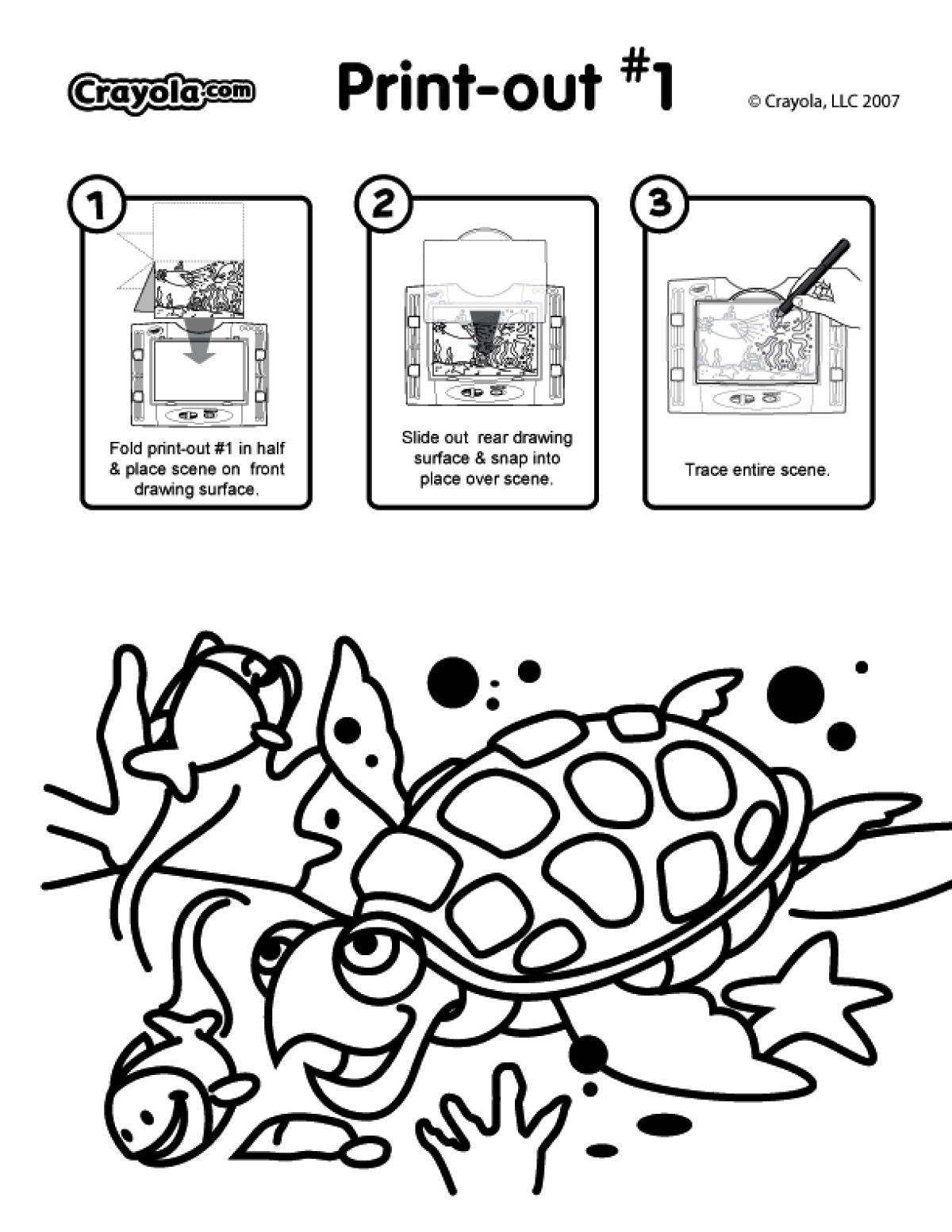 See Thru Light Designer Printable Activity Scene Pages