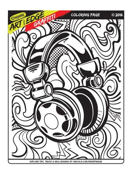 Art With Edge Graffiti Coloring Page