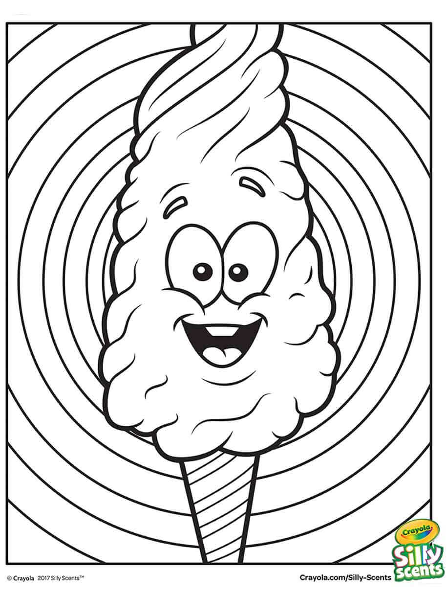 Silly Scents Cotton Candy Coloring Page Crayola Com