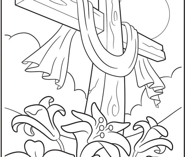 Easter Cross Coloring Page Crayola Com
