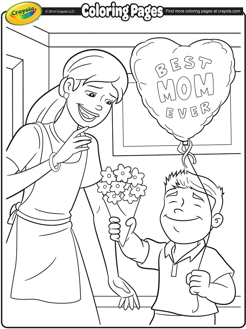 mother's day coloring page  crayola