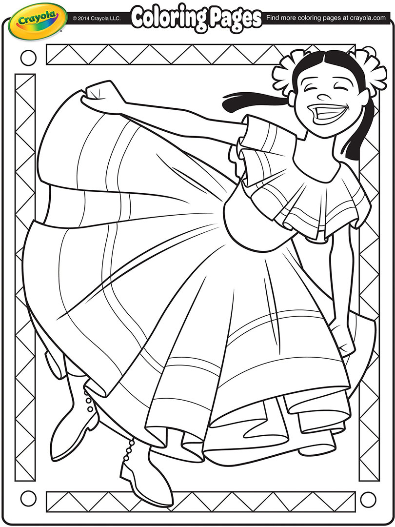 Cinco De Mayo Free Coloring Pages Crayola Com