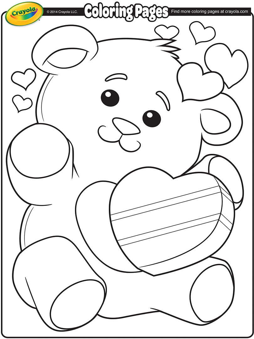 Valentine S Day Free Coloring Pages Crayola Com