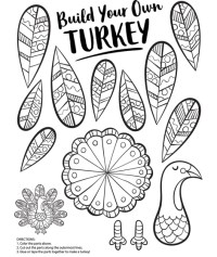 Build Your Own Turkey Coloring Page   crayola.com