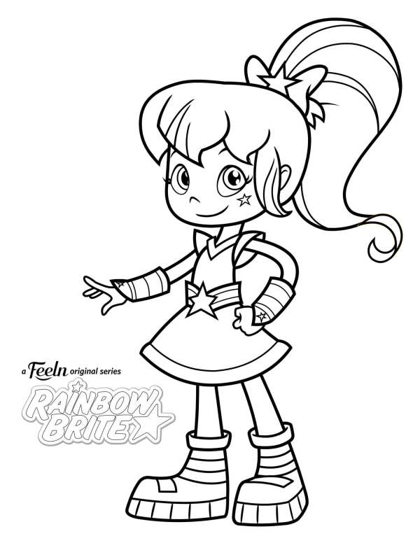 rainbow brite coloring pages # 2