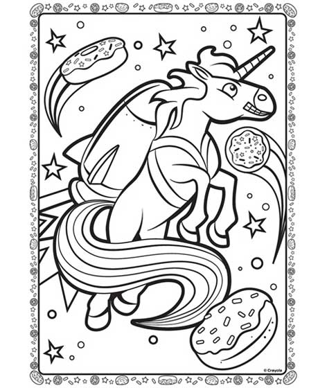 unicorn in space coloring