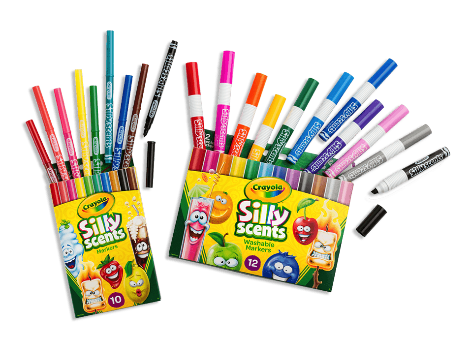 Silly Scents Markers Crayons Pencils