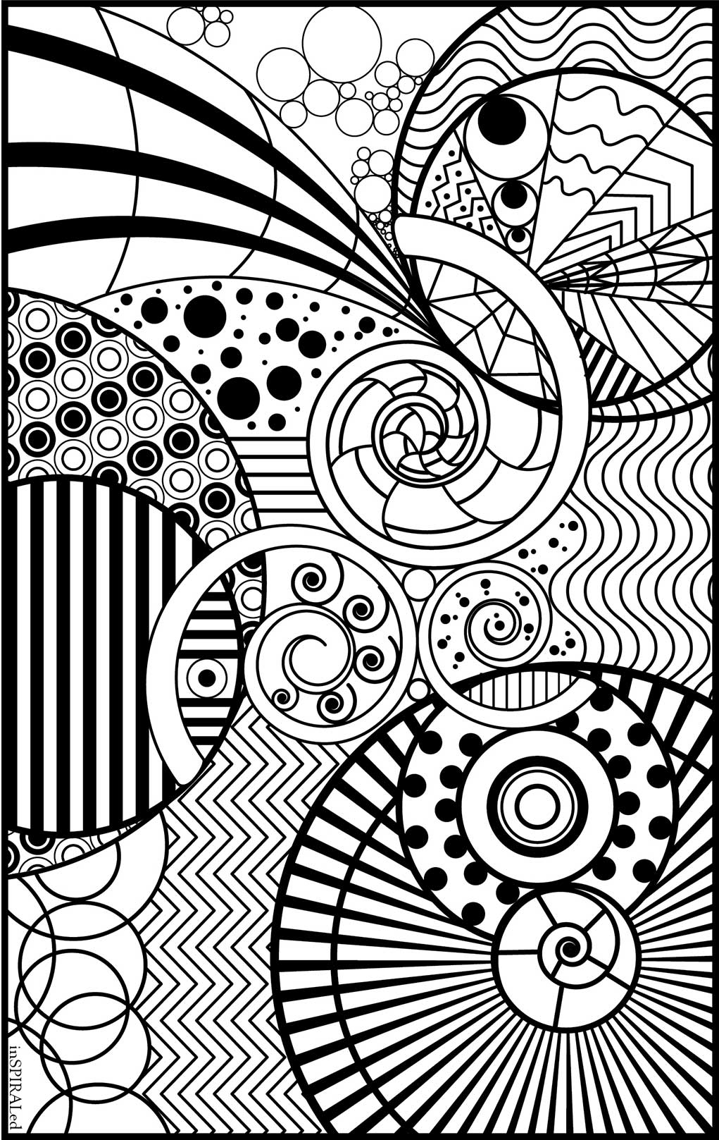 inSPIRALed Coloring Page   crayola.com   coloring pages for adults cool