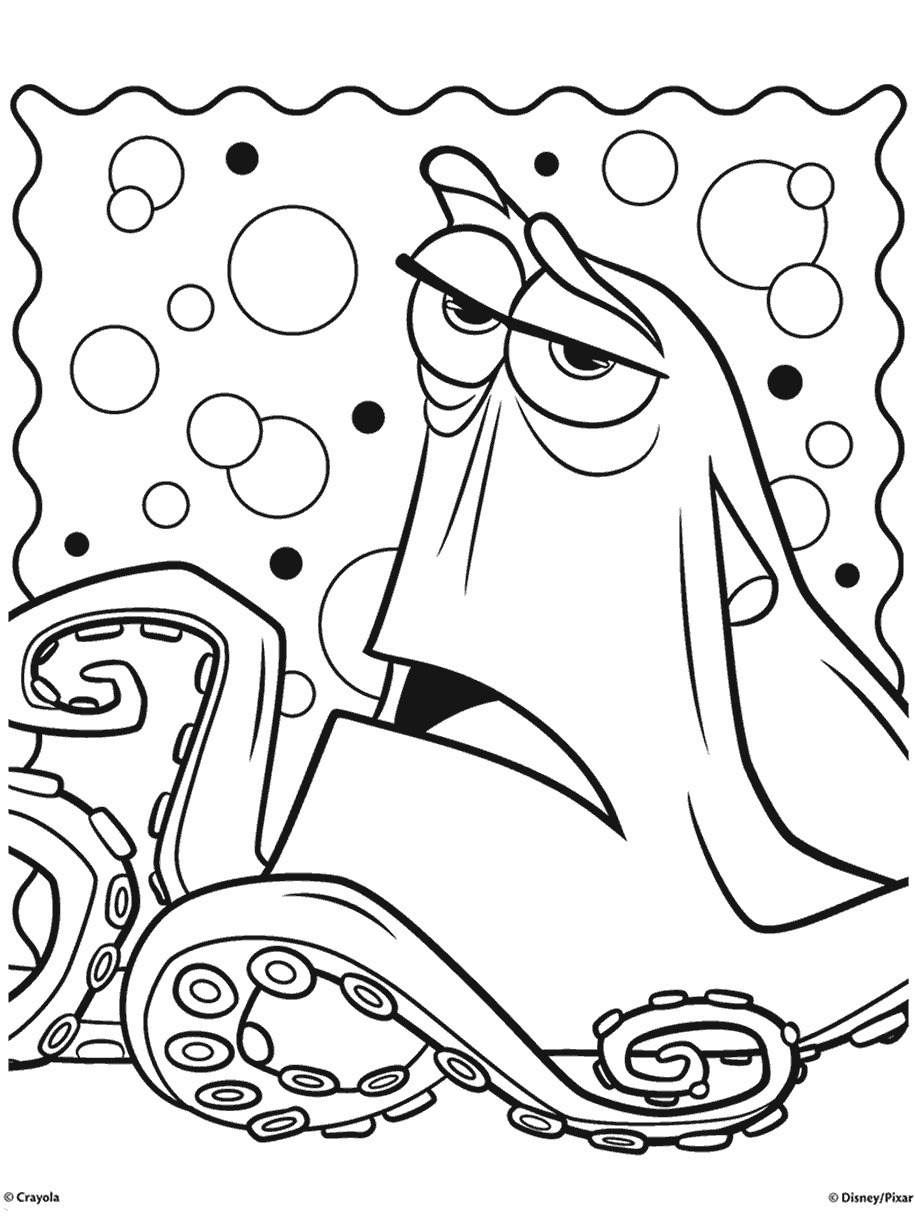 Finding Dory Hank The Septopus Coloring Page