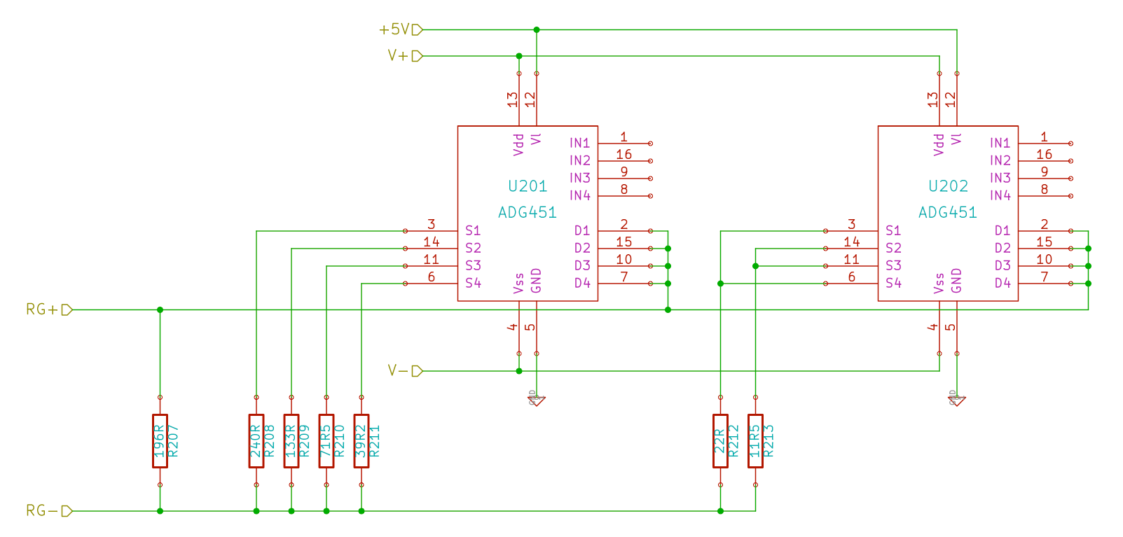 A Symmetrical Variable Gain Amplifier For Phono Stages Crazy Audio Resistor Circuit Note That The Diagram Only Shows Implementation Of