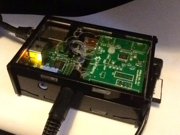 HiFiBerry DAC installed in a standard case.