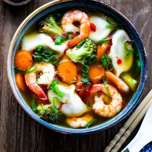 Soup of the Day: Quick and Easy Prawn and Dumpling Soup