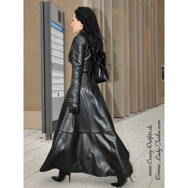 Leather coat wide 4012  CrazyOutfits  webshop for