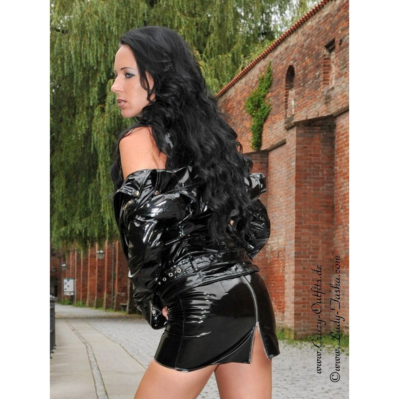 Vinyl skirt DS500V  CrazyOutfits  webshop for leather