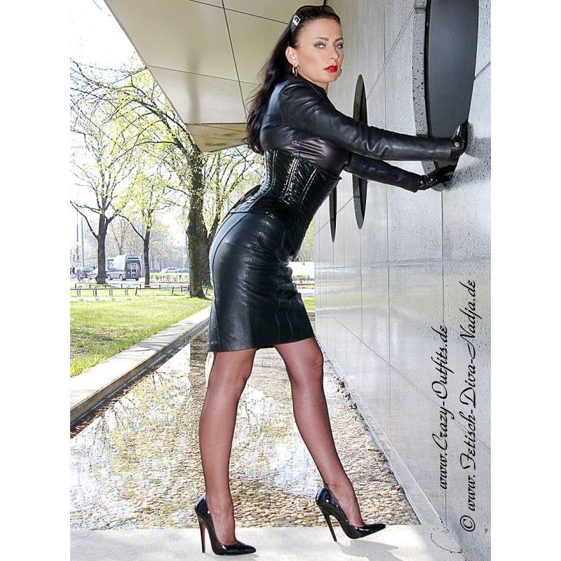 leather skirt ds 546