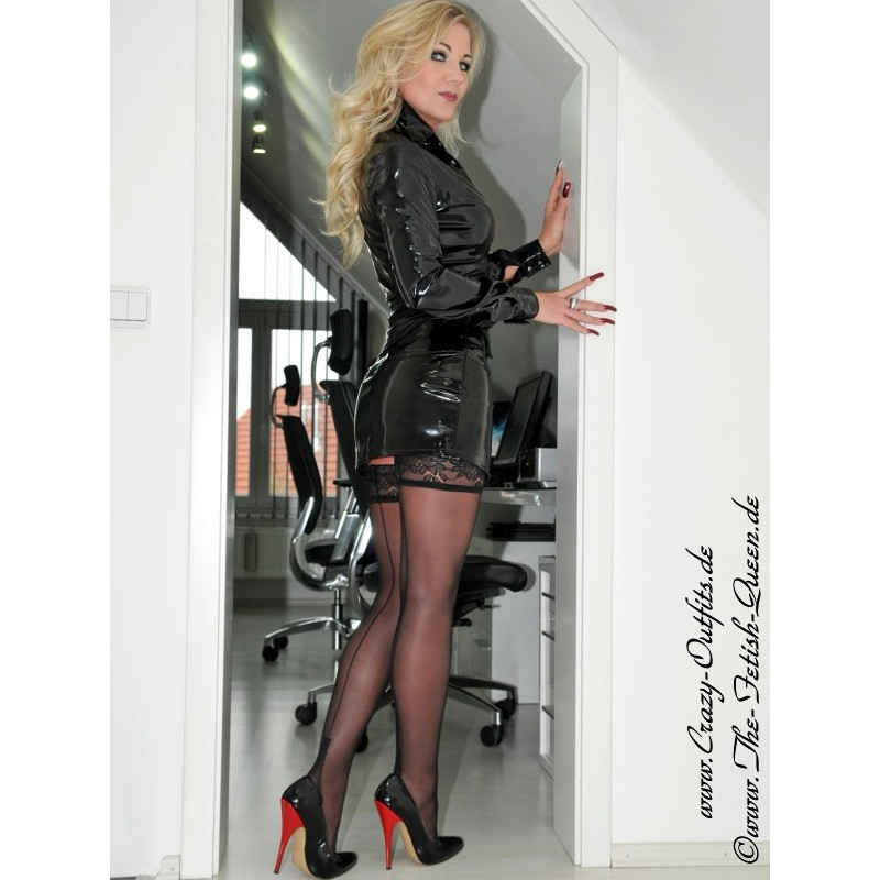 Vinyl skirt DS552V  CrazyOutfits  webshop for leather clothing shoes and more