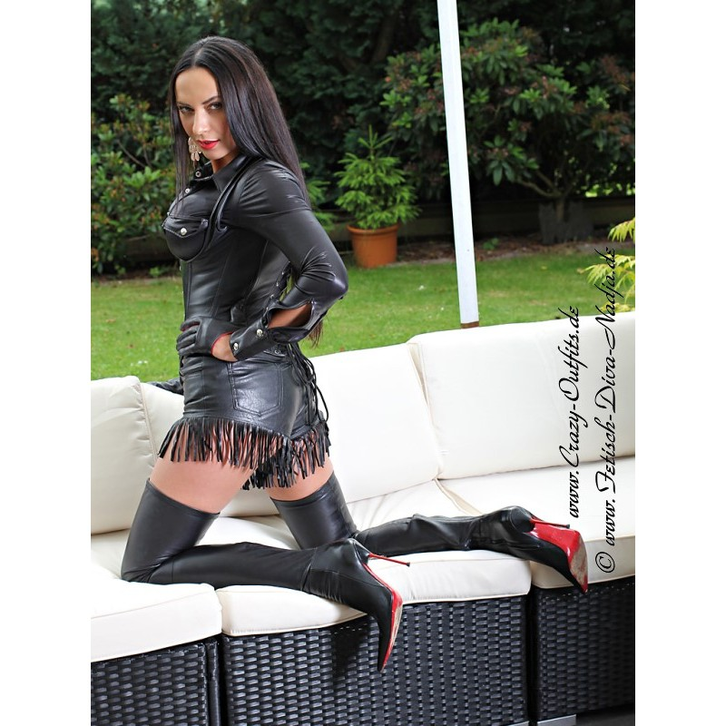 Leather hotpants DS436  CrazyOutfits  webshop for