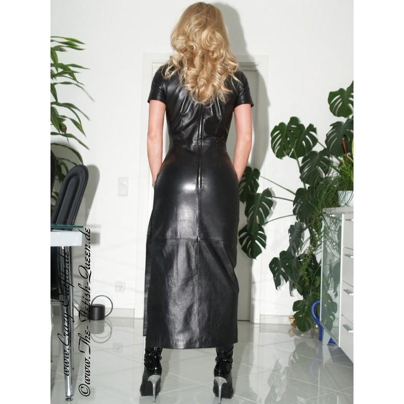 Leather dress long DS004  CrazyOutfits  webshop for leather clothing shoes and more