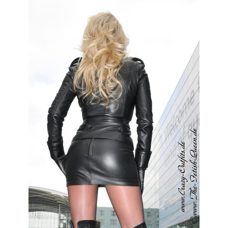 Leather skirt DS101  CrazyOutfits  webshop for leather clothing shoes and more