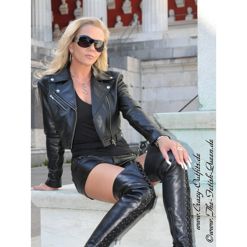 Leather jacket DS616  CrazyOutfits  webshop for leather clothing shoes and more