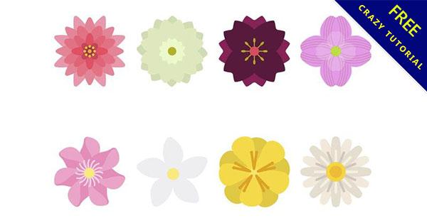 【可愛花朵圖案】30款精緻的花朵圖案下載 - 天天瘋後製-Crazy-Tutorial