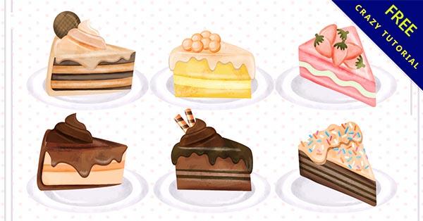 【蛋糕插圖】圖案推薦:26款手繪的蛋糕插畫圖下載 - 天天瘋後製-Crazy-Tutorial
