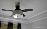 DIY drum shade ceiling fan - Crazy Wonderful