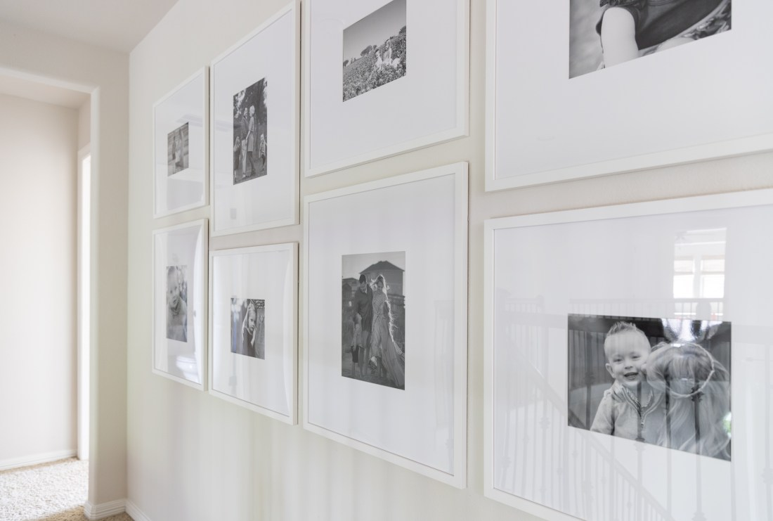 Gallery Wall with Custom Picture Frames   Crazy Wonderful