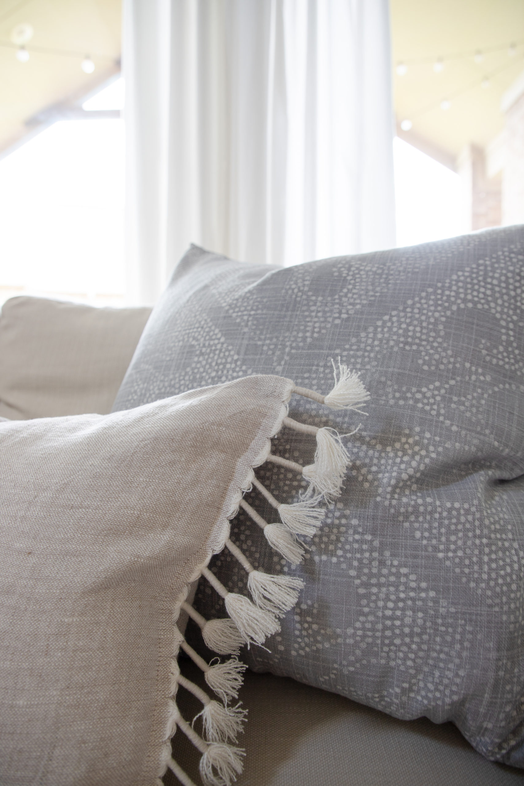 Serena & Lily Camille Scroll Pillow, neutral pillows