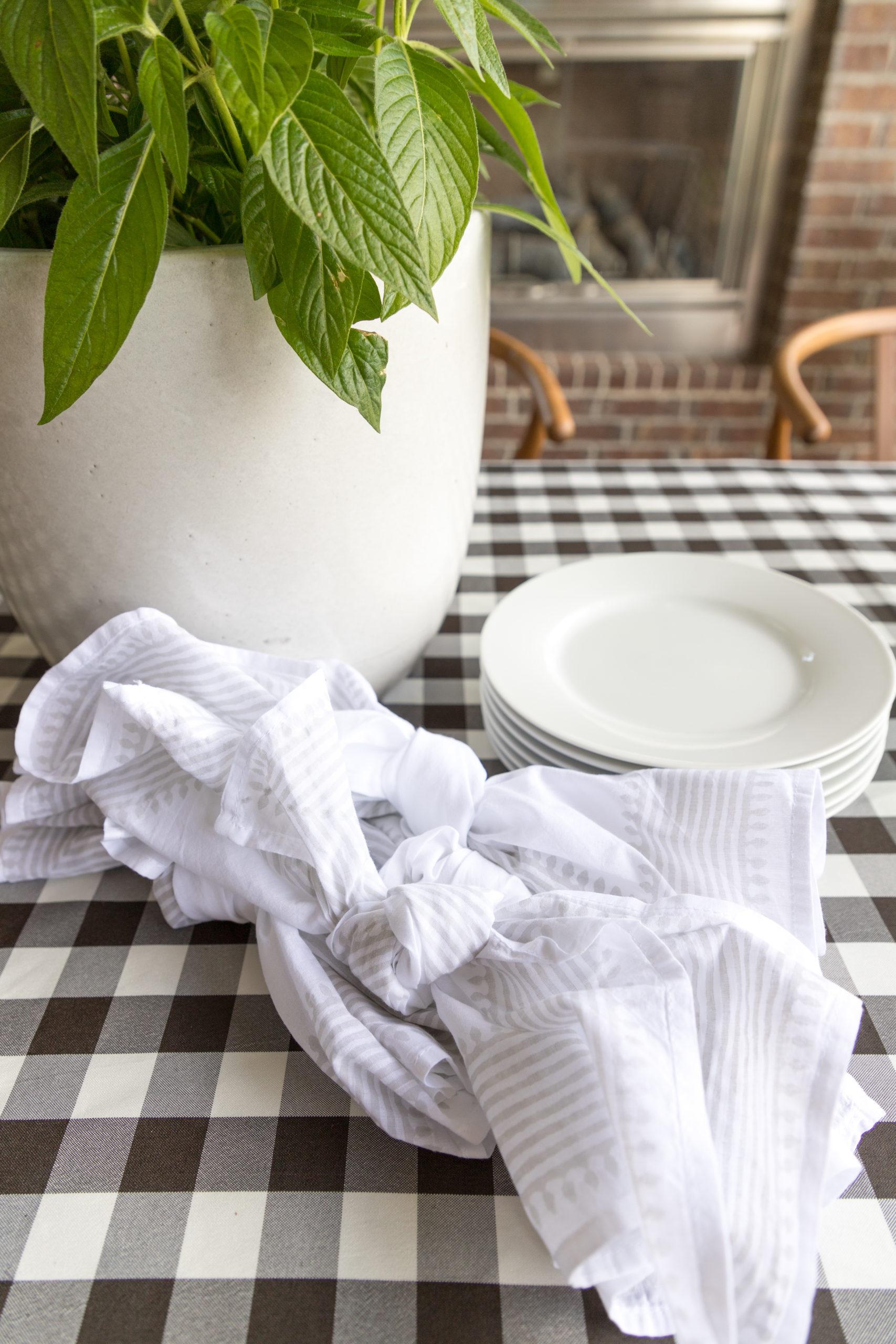 Serena & Lily Brela napkins, knotted napkins
