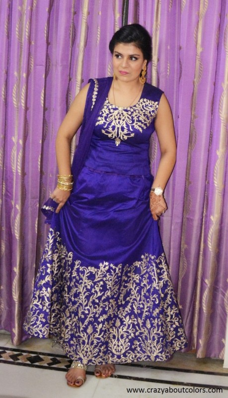 OOTD: Purple and Gold Lehenga