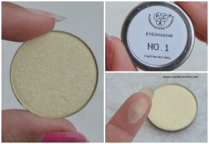 PAC Cosmetics sparkle eyeshadows 1