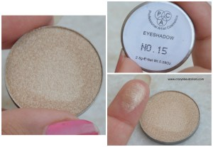 PAC Cosmetics sparkle eyeshadows 15