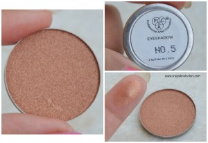 PAC Cosmetics sparkle eyeshadows 5
