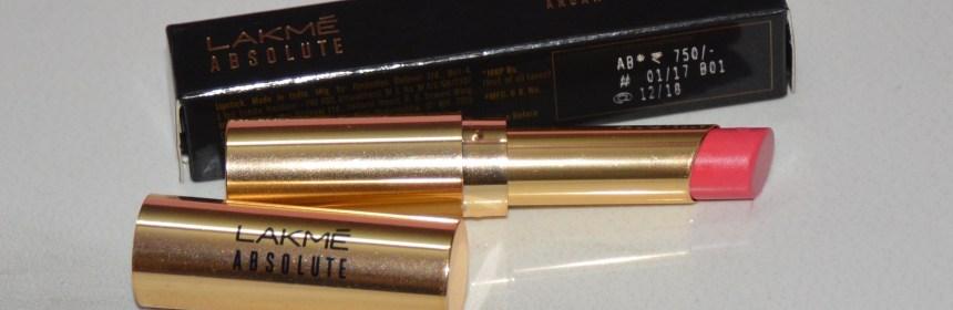 Lakme Absolute Argan Oil Lip Color: Silky Blush (11)