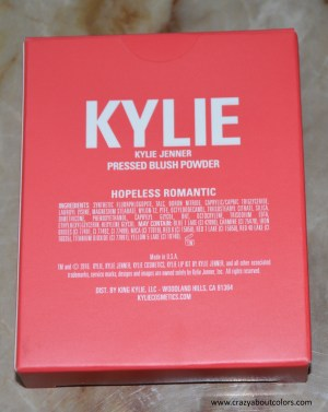 Kylie Cosmetics Blush Hopeless Romantic