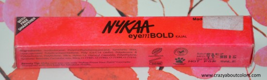 Nykaa EyemBOLD Kajal Eyeliner