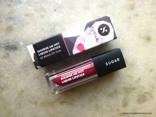 Sugar Smudge Me Not Liquid Lipstick Brink of Pink