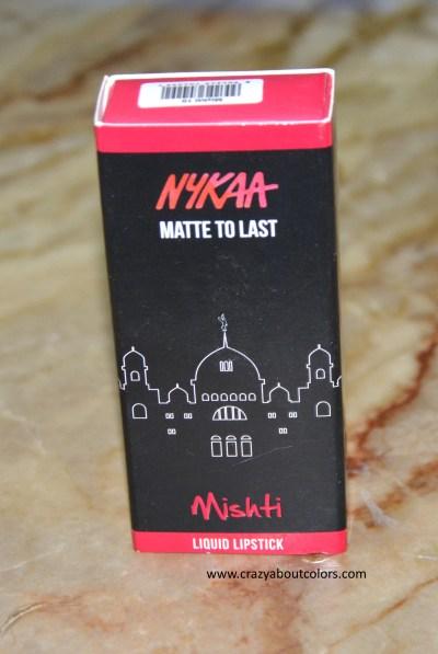 Nykaa Matte To Last Liquid Lipstick Mishti
