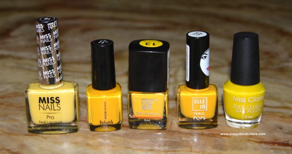 Affordable Yellow Nail Polish