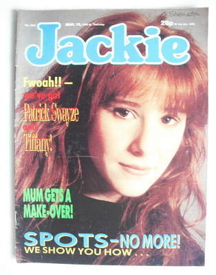Jackie Magazine 12 March 1988 Issue 1262 Tiffany Cover