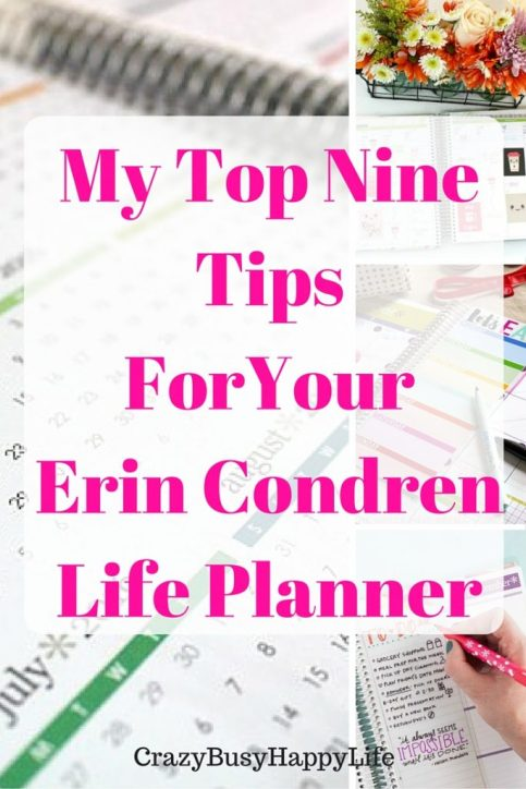 My top nine tips for your Erin Condren life planner. This is a great way to get more out of your daily planner. Click through to read more or pin now and read later.