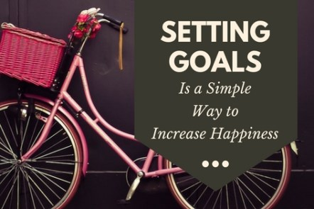 Setting Goals is a Simple way to increase happiness and productivity