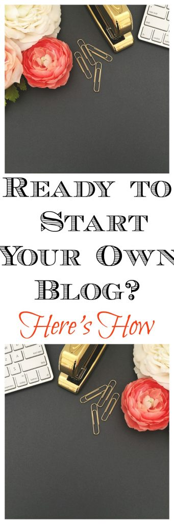 Do you have a ton of ideas for a blog but don't know where to start? Here is a step-by-step guide to starting your own blog. Click through to read more.