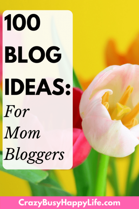Blog topics - Check out this list of 100 blog post ideas for new mom bloggers. Great way to get ideas or niche specific topics. blog, blogging, mommy, lifestyle, make money blogging, blog ideas, blog post, how to blog, start a blog